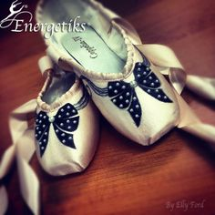 Energetiks 'Polka Dot Bows' | Hand decorated Pointe Shoes by Elly Ford