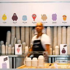 Eyescream branding & interior by m Barcelona store design design design design and decoration house design Visual Merchandising, Taiwan, Shop Dress Up, Gelato Shop, Fun Test, Ice Cream Brands, Bar Design Awards, Creative Desserts, Ice Cream Parlor