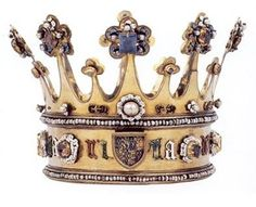 One of two surviving crowns of the this period.  This belonged to Princess Margaret, daughter of Edward IV and Elizabeth Woodville.
