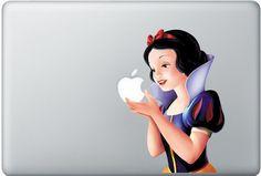 Snow white macbook pro decals skins macbook air macbook pro decal vinyls macbook decals sticker Vinyl mac decals Apple Mac Decal. $7.99, via Etsy.