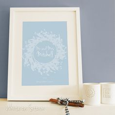 Personalised Wedding Print A4  Wedding gift by OldEnglishCo, £17.00