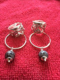 Øredobber og ring av telesølv til Grete Hoop Earrings, Jewelry, Jewellery Making, Jewelery, Jewlery, Jewels, Jewerly, Earrings, Fine Jewelry