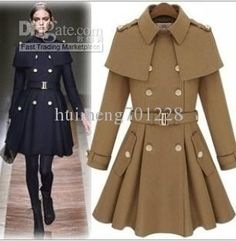 pea coats for women love this it's so feminine however I could ...