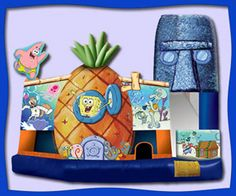 The SpongeBob Bounce House rental is a kids' favorite here in Florida.