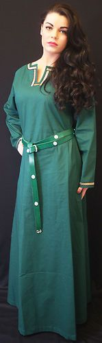Medieval LARP Dark Age SCA Viking re enactment Ladies Green Kirtle Under Dress | eBay