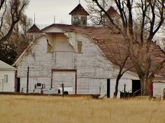 white rustic barn