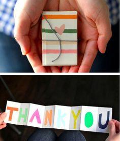 Accordion Thank You Card [SOURCE]
