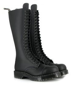 Vegetarian Shoes Airseal 20 Eye Boot (Black) I've had these boots for 4 years now, they look almost brand new even though I wear them several days a week! Heeled Boots, Shoe Boots, Shoe Bag, Botas Goth, Crazy Shoes, Me Too Shoes, Dr. Martens, Vegetarian Shoes, Vegan Boots