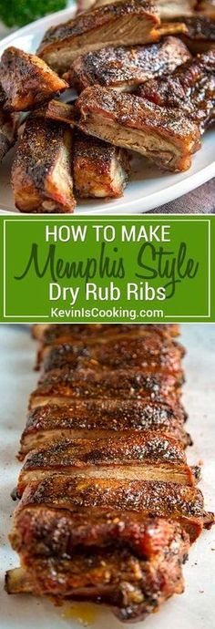 When making Memphis Style Ribs it's all about the dry rub. The rub of pepper and spices is your source of flavor since this is a rib that doesnt rely on a BBQ sauce. A light mop sauce of vinegar is most often used during cooking but I like to use apple Rub For Pork Ribs, Ribs On Grill, Dry Rub Ribs, Smoked Ribs Rub, Rib Dry Rubs, Beef Rib Rub, Smoked Pork, Cooking Ribs On Bbq, Ribs On Smoker