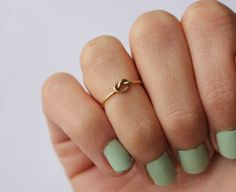 14k gold fill knuckle ring knot ring  midi by ChildrenofFlowers, $20.00