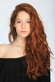 Curly Red Lange Gewellte Typen Seite Redheads Teil Mädchen 30 20