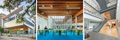 2020 Visions | Year in Architecture 2020 | Library Journal Main Library, Library Design, Short Throw Projector, Dropped Ceiling, Ceiling Treatments, Ceiling Panels, Lower Case Letters, White Walls, Pavilion