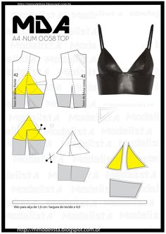 21 Wonderful Photo of Crop Top Sewing Pattern - figswoodfiredbist. - 21 Wonderful Photo of Crop Top Sewing Pattern Crop Top Sewing Pattern Num 0058 Top Learn Sewing - Diy Clothing, Sewing Clothes, Clothing Patterns, Named Clothing, Clothes Crafts, Dress Patterns, Fashion Sewing, Diy Fashion, Ideias Fashion