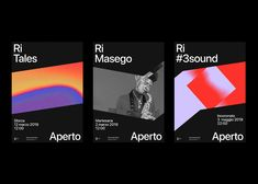 Graphic design and branding by Andrea Bianchi for the RiAperto festival