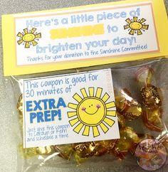 What the Teacher Wants!: Sunshine Committee Ideas