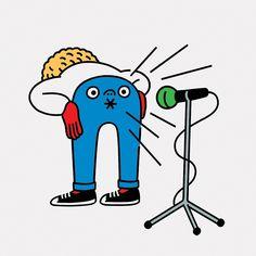 Tomi Um illustrating internet trolls for Technology Review