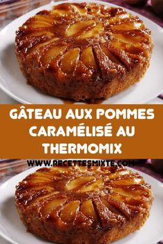 Découvrez la recette du gâteau aux pommes caramélisé, simple et facile à réaliser au Thermomix.