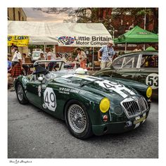 1956 MGA Sebring Racer, 1st in class for the 1957 12hrs of Sebring at the 2013 Brits On The Lake car show, Port Perry ON CA.