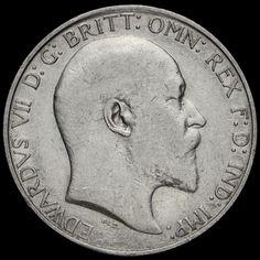 1908 Edward VII Silver Florin, Fine