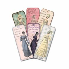 Jane Austen Bookmarks Quotations, Shabby Chic Tag, Bridal Shower Party Favor Book Club Favor,Teacher gift, Pride and Prejudice Gifts for Her. Jane Austen Book Club, Book Club Parties, Bridal Shower Party, Pride And Prejudice, Book Cover Design, Party Themes, Ideas Party, Teacher Gifts, Book Lovers