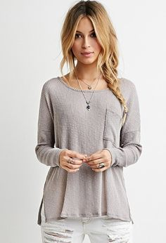 So ready for fall!   Textured Ribbed Knit Top | Forever 21 - 2000161892