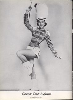 drum majorette... reminds me of my Mom's majorette picture.