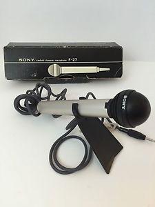 Vintage Sony F 27 Cardioid Dynamic Microphone 7' Cord | eBay