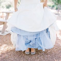 Blue Petticoat- a way to still wear white, but hint at the Irish tradition of wearing blue
