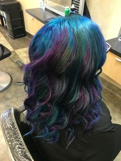 Fashion hair color cosmic inspired #hairbynicolebevv