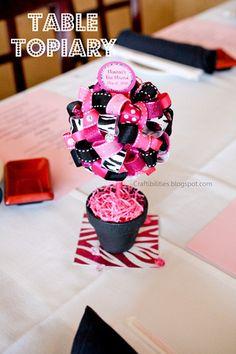 DIY Table Topiary - Super cute PARTY decoration idea!!!