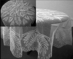 Knitted lace tablecloth by Herbert Niebling
