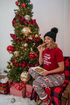 Xmas PJs from 3 Sisters Xmas Pjs, Christmas Pajamas, Christmas Morning, Christmas Pajama Party, Holiday Pajamas, Xmas Movies, Movie Tees, Christmas Wreaths, Sisters