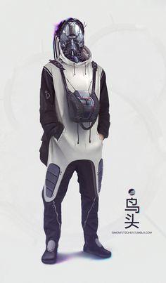 Welding the Punk into Cyberpunk Character Concept, Character Art, Concept Art, Character Design, Arte Ninja, Rude Mechanicals, Art Du Monde, Arte Cyberpunk, Cyberpunk Fashion