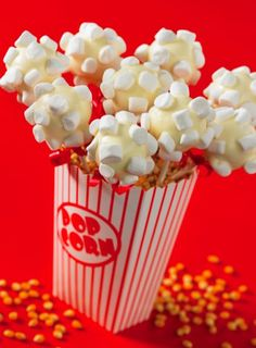 Movie Night Popcorn Cake Pops- since Harris can't have popcorn it will be fake popcorn!