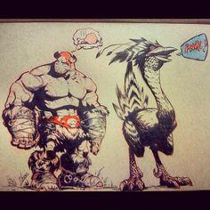 Balto's hungry. #archives #art #battleberzerkerbalto #comics #graphicnovel #chicken #fantasy (Taken with Instagram)