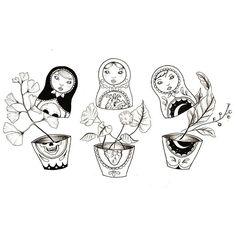 Tatto Old, 1 Tattoo, Mom Tattoos, Sleeve Tattoos, Babushka Tattoo, Russian Doll Tattoo, Nesting Doll Tattoo, Tatto Skull, Hand Doodles