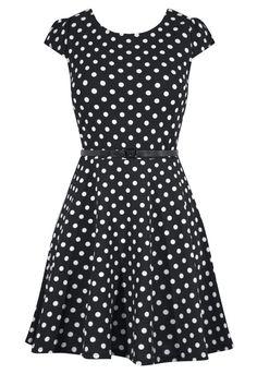 Polka Dot Cap Sleeve Pinup Dress