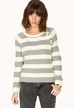 Everyday Striped Sweater | FOREVER 21 - 2000091040