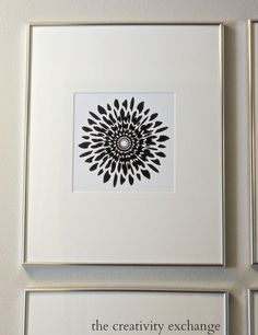 Free printable collection of four modern black and white prints. Print 1. The Creativity Exchange