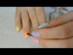 Colourful Cotton Candy - Nail Art Tutorial by MissAdelinne Nail Tutorials, Video Tutorials, Cotton Candy Nails, Fancy Nails, Nail Art Designs, Design Ideas, Gallery, Wall, Color