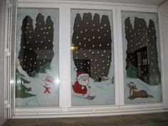 Yahoo Recherche d'images Christmas Wood Crafts, Cheap Christmas, All Things Christmas, Christmas Booth, Christmas Window Decorations, Holiday Decor, Painting On Glass Windows, Deco Table Noel, Window Art