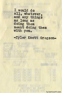 Typewriter Series by Tyler Knott Gregson Love Of My Life, In This World, Always Thinking Of You, Four Letter Words, Typewriter Series, Short Poems, Poem Quotes, Qoutes, Greek Quotes