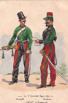 6th Hussars Trumpeter Officer 1840 on service in Algeria