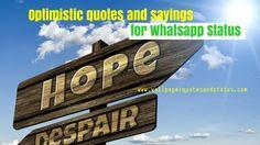 optimistic quotes, optimistic messages, optimistic quotes status for whatsapp