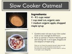 My recipe for healthy, easy, homemade oatmeal.