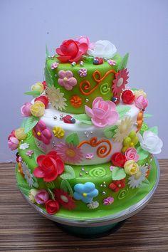 Flower cake taarten Pinterest Flowers Cupcake and Flower cakes