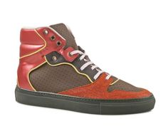 Balenciaga men high sneakers in Multi-Color Leather