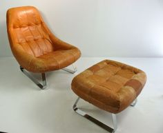 Leather Lounge Chair And Ottoman By Percival Lafer | From a unique collection of antique and modern lounge chairs at http://www.1stdibs.com/furniture/seating/lounge-chairs/