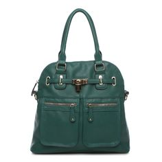 Green Satchel with an optional longer strap