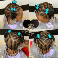 Kid Hairstyles 101682904073814753 - Braid And Beads! Booking Link In Bio! Toddler Braided Hairstyles, Toddler Braids, Lil Girl Hairstyles, Natural Hairstyles For Kids, Braids For Kids, Natural Hair Styles, Little Girl Braid Styles, Kid Braid Styles, Little Girl Braids